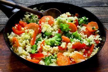Hirse-Gemüsepfanne
