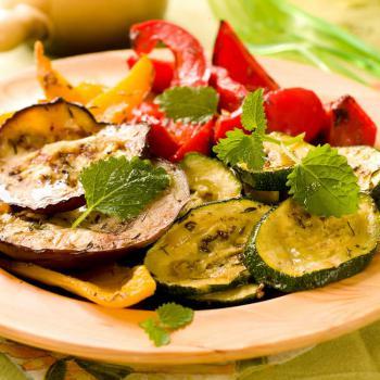 Italienisches Ofengemüse mit Paprika und Aubergine