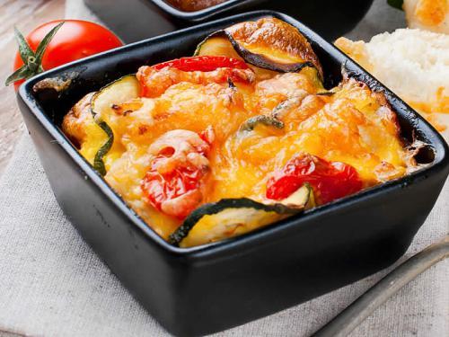 Vegane Lasagne mit Paprika und Zucchini