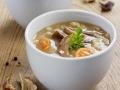 Pilzsuppe mit Reis