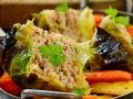 Vegetarische Wirsingrouladen mit Grünkern-Walnuss-Füllung