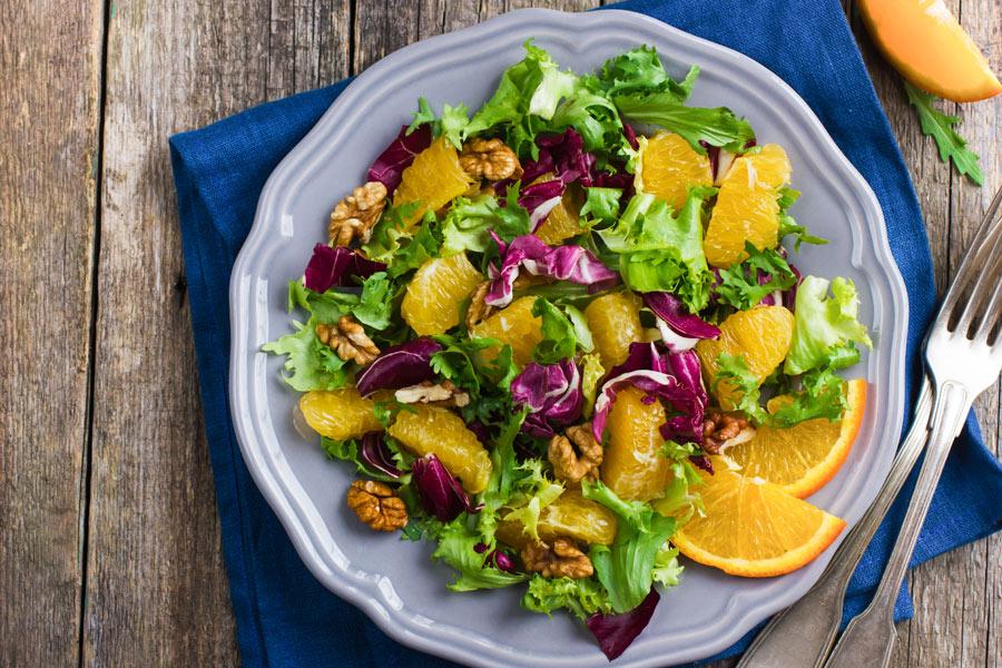 wintersalat mit orangen und waln ssen einfach schnell gesund vegan. Black Bedroom Furniture Sets. Home Design Ideas
