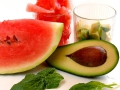 Spinat Avocado Salat mit Wassermelone
